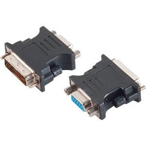 Adapter DVI-A-Stecker 12+5 Single-Link < VGA-Buchse SHIVERPEAKS BS77416-1