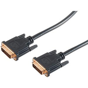 DVI-D Stecker 24+1 Kabel Dual-Link, vergoldet 7,5 m SHIVERPEAKS BS77447