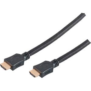 HDMI-A Stecker < HDMI-A Stecker HEAC Nylon vergoldet 7,5 m SHIVERPEAKS BS77477-LDN
