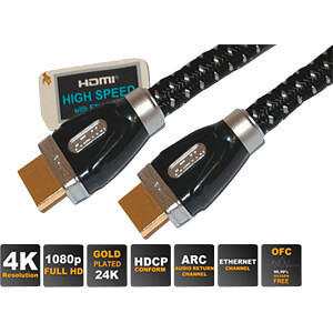 HDMI A Stecker auf HDMI A Stecker, 2,5 m SHIVERPEAKS SP77473-2.5-CL