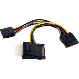 ST PYOLP42SATA - 15-pin SATA auf 1x LP4/2x 15-pin SATA