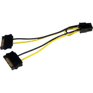 ST SATPCIEXADAP - 2x 15-pin SATA auf 6er PCI-E