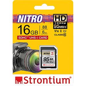 SDHC-Speicherkarte 16GB, Strontium Class 10 STRONTIUM SRN16GSDU1QR