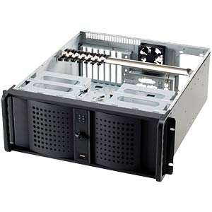 "48 cm (19"") server housing, 4 RU, black, 528 mm FANTEC TCG-4860KX07-1"