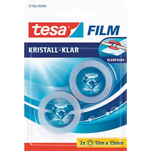 tesafilm® kristall-klar, 10m x 15mm, 2 Rollen TESA 57766-00000-14