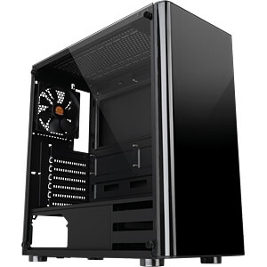 Thermaltake Mid tower V200 TG THERMALTAKE CA-1K8-00M1WN-00