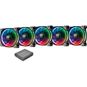 Thermaltake Riing Plus 12 RGB Lüfter 5 Stück inkl. Controller THERMALTAKE CL-F054-PL12SW-A