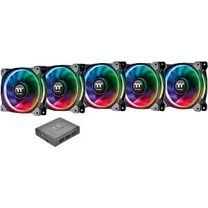 Thermaltake Riing Plus 14 RGB Lüfter 5 Stück inkl. Controller THERMALTAKE CL-F057-PL14SW-A