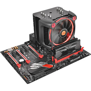 Thermaltake Wasserkühlung Riing Silent 12 Pro rot THERMALTAKE CL-P021-CA12RE-A
