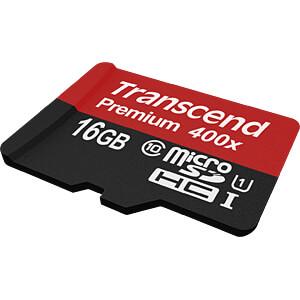 MicroSDHC-Speicherkarte 16GB, Transcend Class 10 UHS-I TRANSCEND TS16GUSDCU1