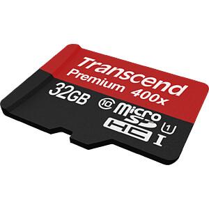 MicroSDHC-Speicherkarte 32GB, Transcend Class 10 UHS-I TRANSCEND TS32GUSDCU1