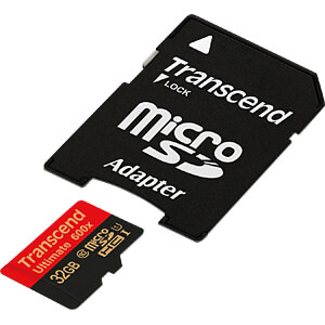 MicroSDHC-geheugenkaart 32GB, Transcend Class 10 UHS-I TRANSCEND TS32GUSDHC10U1