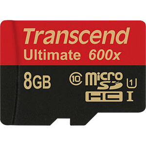 MicroSDHC-geheugenkaart 8GB, Transcend Class 10 UHS-I TRANSCEND TS8GUSDHC10U1