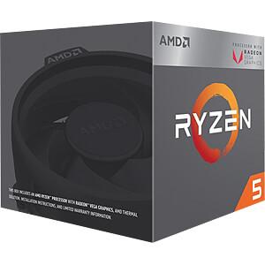 AMD AM4 Ryzen 5 2400G, 4x 3.60GHz, boxed AMD YD2400C5FBBOX