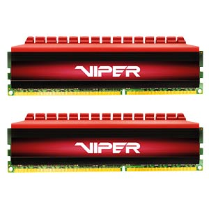 16 GB DDR4 3000 CL16 Patriot Viper 4 2er Kit PATRIOT MEMORY PV416G300C6K