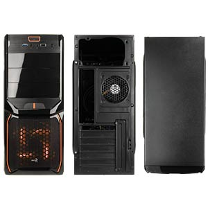 AeroCool V3X Advance midi tower, Evil Black / Or AERO COOL EN57394