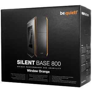 be quiet! Silent Base 800 Window, orange BEQUIET BGQ01