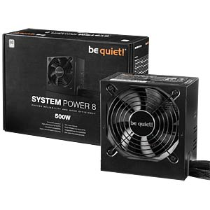 be quiet! System Power 8 500 W, BN241 BEQUIET BN241