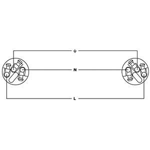 Powercon plug/earthed angular plug, 1.5 m CORDIAL CFCA 1,5 SRC