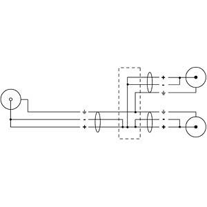 CORDIAL Y-Adapter cable CORDIAL CFY 0,3 ECC
