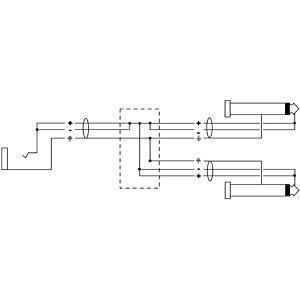 CORDIAL Y-Adapter cable CORDIAL CFY 0,3 GPP
