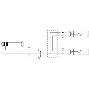 CORDIAL Y-Adapter Kabel CORDIAL CFY 0,3 VKK