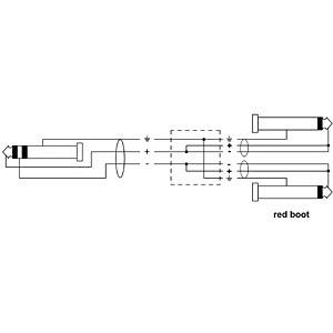 Y-adapter cable/jack plug/2x jack plug/0.9 m CORDIAL CFY 0,9 WPP