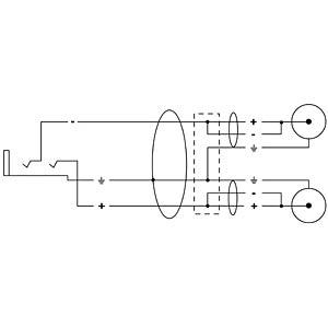 CORDIAL Y-Adapter Kabel CORDIAL CFY 0,3 YCC