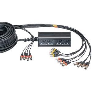 Stageboxen mit Kabel 30m, 12 Eingänge CORDIAL CYB 12-4 C