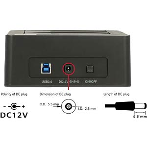 Dual Dockingstation 2.5/ 3.5 SATA HDD, USB 3.0, Clone DELOCK 62661