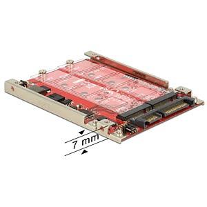 Converter SATA 22 pin > 2 x M.2 DELOCK 62698