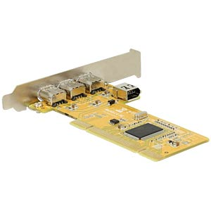 PCI Card > 3 x external + 1 x internal FireWire A DELOCK 89443