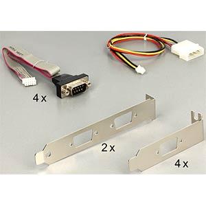 MiniPCIe I/O PCIe full size RS-232 4x DB9 DELOCK 95244