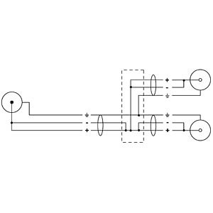 CORDIAL Y-Adapter-Kabel CORDIAL CFY 0,3 CEE