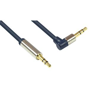 3.5-mm jack, plug to angled plug, blue, 5.0 m GOOD CONNECTIONS GC-M0049