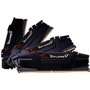 DDR4 3000 64GB CL14 GSkill RipjawsV Kit of 4 G.SKILL F4-3000C14Q-64GVK
