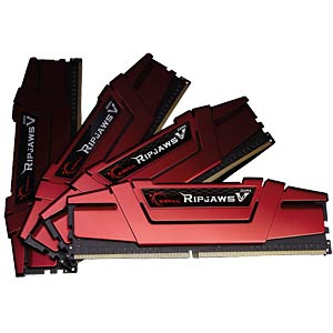 DDR4 3200 32GB CL14 GSkill RipjawsV Kit of 4 G.SKILL F4-3200C14Q-32GVR