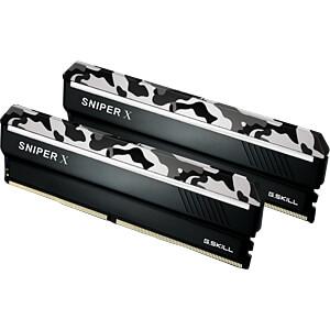 16GB DDR4 2400 CL17 GSkill Sniper X urban 2er Kit G.SKILL F4-2400C17D-16GSXW