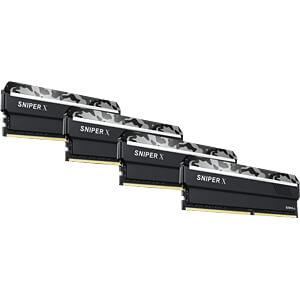 64GB DDR4 2400 CL17 GSkill Sniper X urban 4er Kit G.SKILL F4-2400C17Q-64GSXW