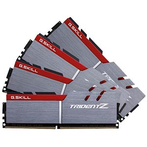 DDR4 3200 64GB CL14 GSkill TridZ Kit of 4 G.SKILL F4-3200C14Q-64GTZ