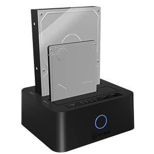USB3.0 DUAL Clone - DOCK/ 6,4cm-8,9cm SATA ICYBOX 20923