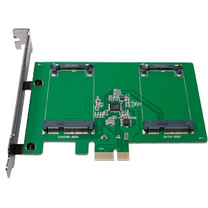 PCIe Controller Card 2x mSATA LOGILINK PC0078