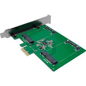 PCIe Controllerkarte 2x mSATA LOGILINK PC0078