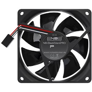 Noiseblocker BlackSilent Pro fan P1 — 80 mm NOISEBLOCKER P-1