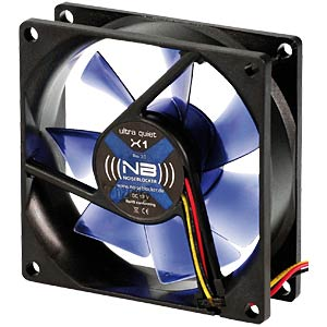 Noiseblocker BlackSilent fan X1 - 80 mm NOISEBLOCKER X-1