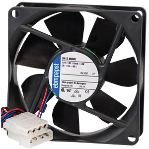 Papst enclosure fan 80x80x25 EBM-PAPST 8412 NGME