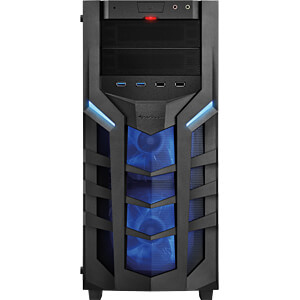Sharkoon Midi-Tower DG7000-G, blau SHARKOON 4044951019366