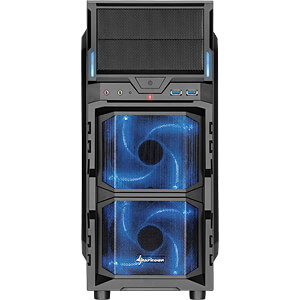 Sharkoon Midi-Tower VG5-W, blau SHARKOON 4044951017515