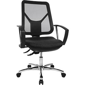 Topstar Ergo Steel Net office chair, black TOPSTAR AN800BDLSW
