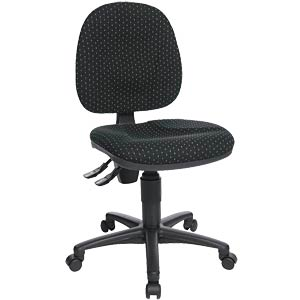 Topstar Point 10 office chair, black, patterned TOPSTAR PO10G50